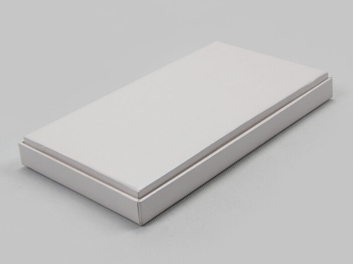 Pearl White Blindfold Packaging Boxes Side Display