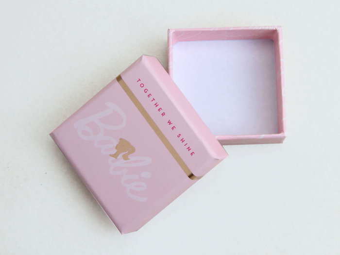 Pink Stationery Gift Packaging Boxes Corner Detail