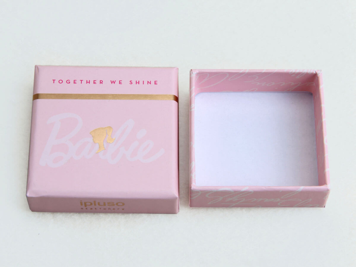 Pink Stationery Gift Packaging Boxes Lid and Base Detail