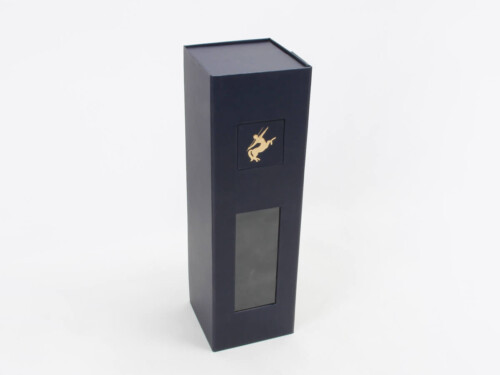 Premium Collapsible Wine Gift Boxes With Pvc Window