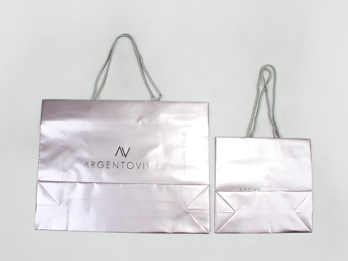 Premium Gloss Garment Paper Bags Set Bottom