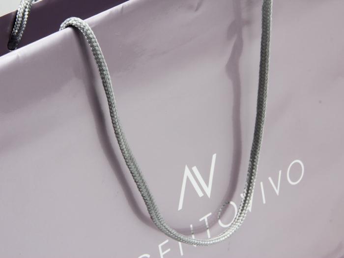 Premium Gloss Garment Paper Bags Set Handle Detail