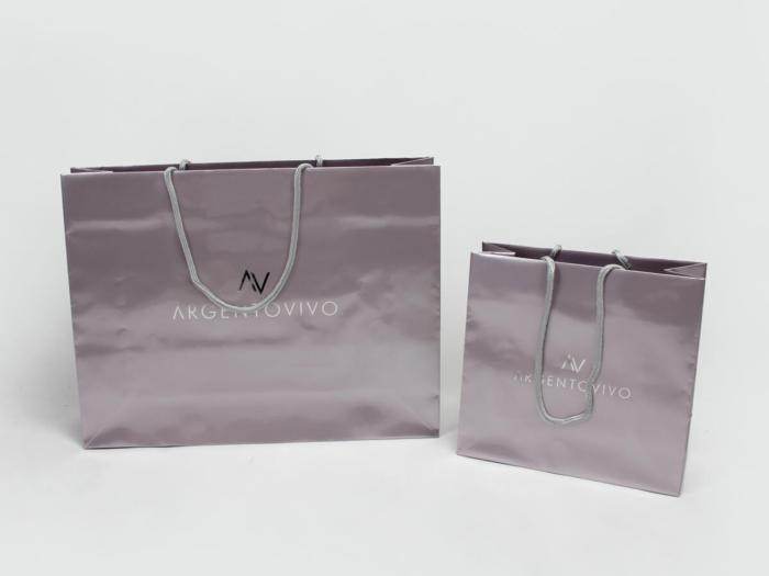 Premium Gloss Garment Paper Bags Set LOGO Printed