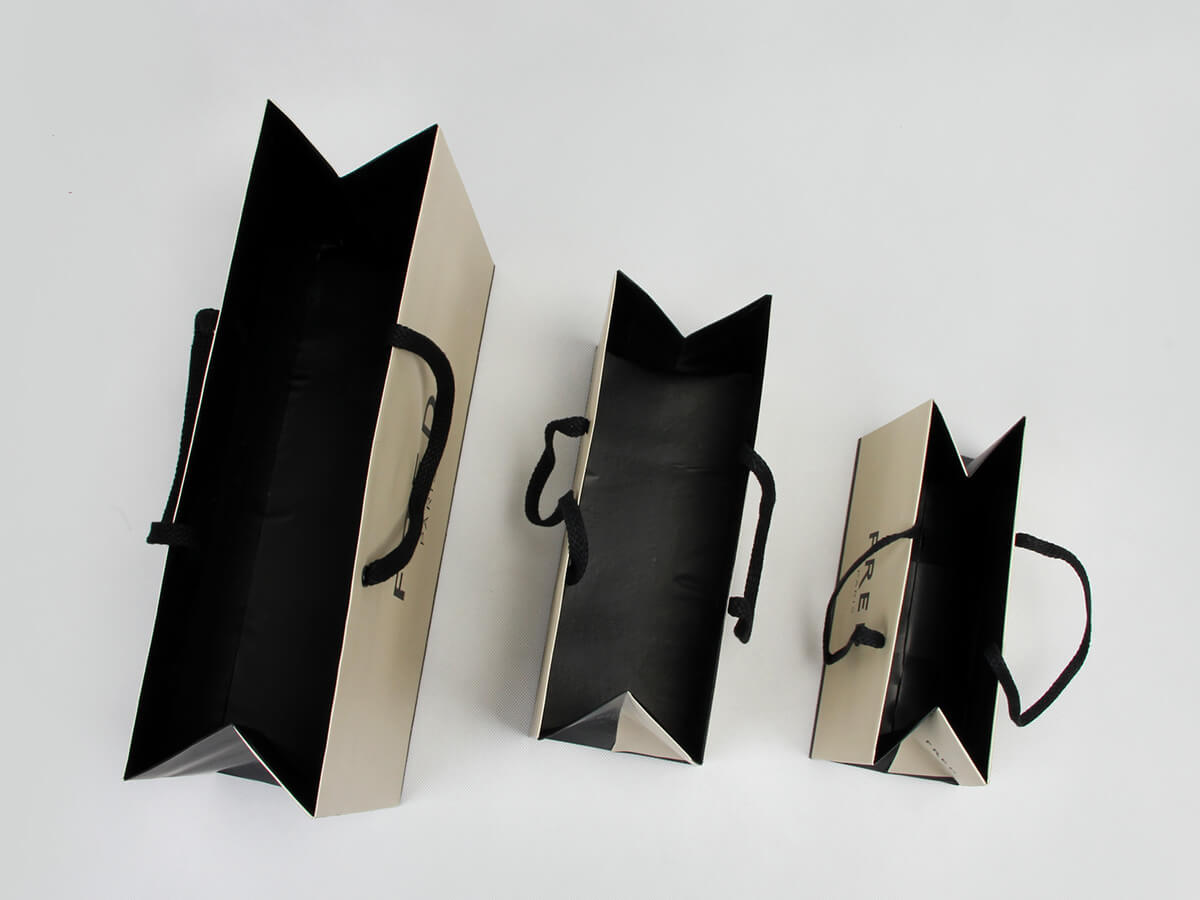 Premium Jewelry Shopping Paper Bags Inside Detail