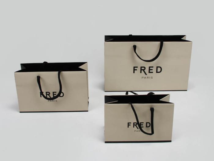Premium Jewelry Shopping Paper Bags LOGO Technique
