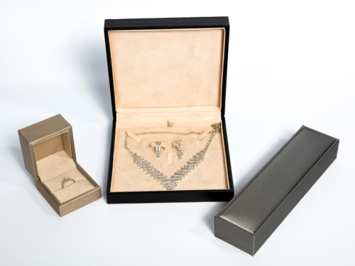 Premium Leather Jewelry Boxes Packaging Set