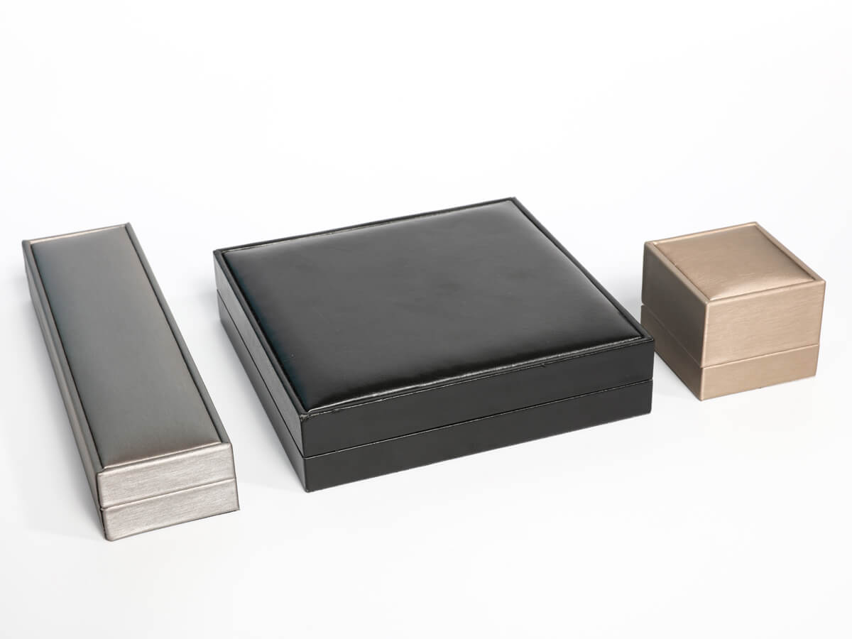 Premium Leather Jewelry Boxes Packaging Set Material