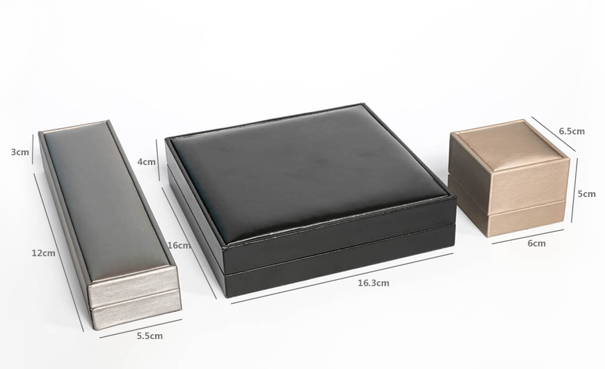 Premium Leather Jewelry Boxes Packaging Size