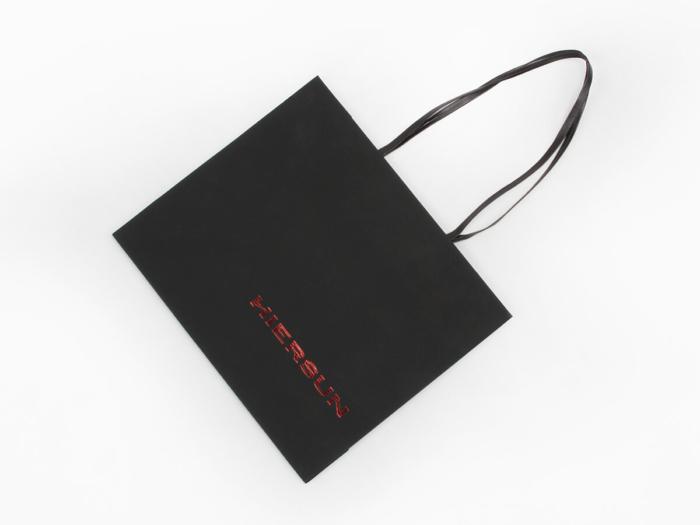 Premium Soft Touch Garment Shopping Bags Folding Way
