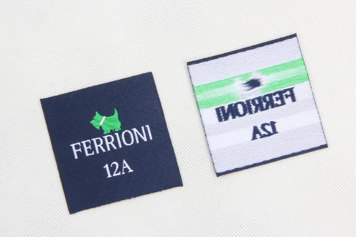 Premium Square Clothes Woven Labels back