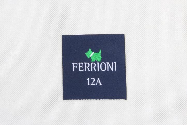 Premium Square Clothes Woven Labels detail