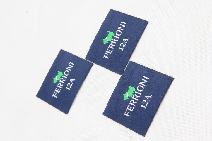 Premium Square Clothes Woven Labels style