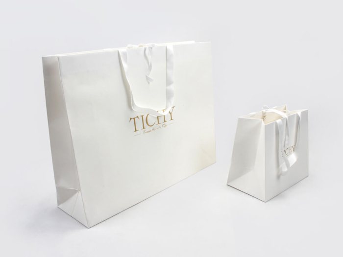 Premium Women Full Embossing Paper Garment Shopping Bags