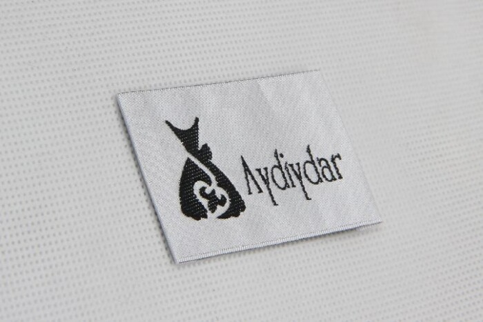 Premium Woven Dress Neck Labels detail