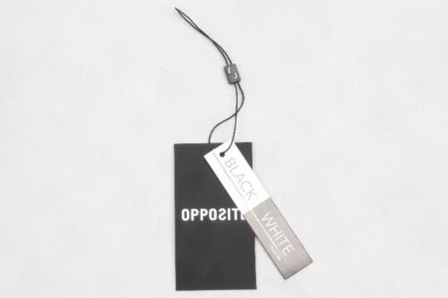 Printed Rectangular Paper Clothing Hang Tags Labels