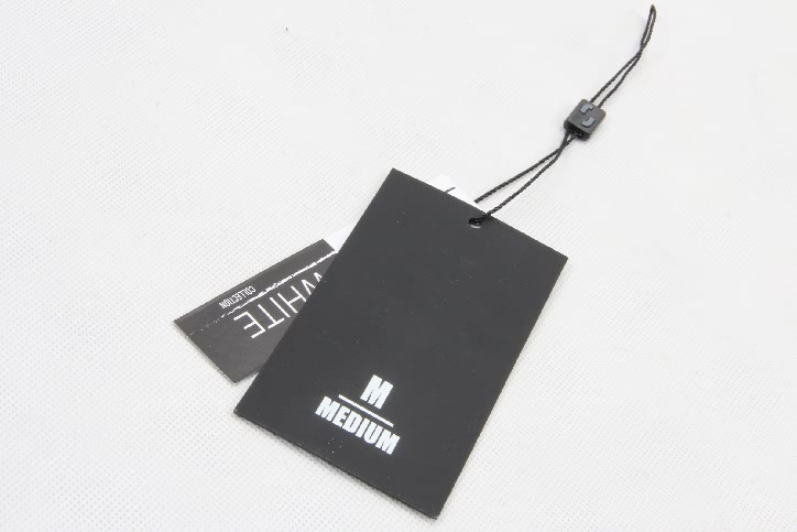 Printed Rectangular Paper Clothing Hang Tags Labels back
