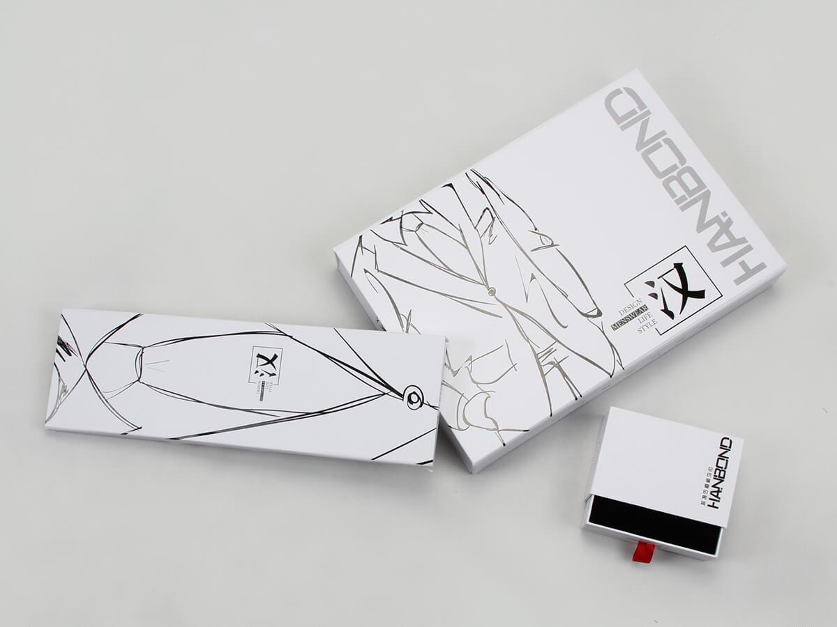 Printed Snow White Garment Paper Boxes Corner Detail
