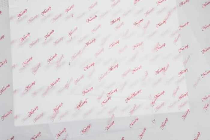 Printed White Cotton Wrapping Paper detail