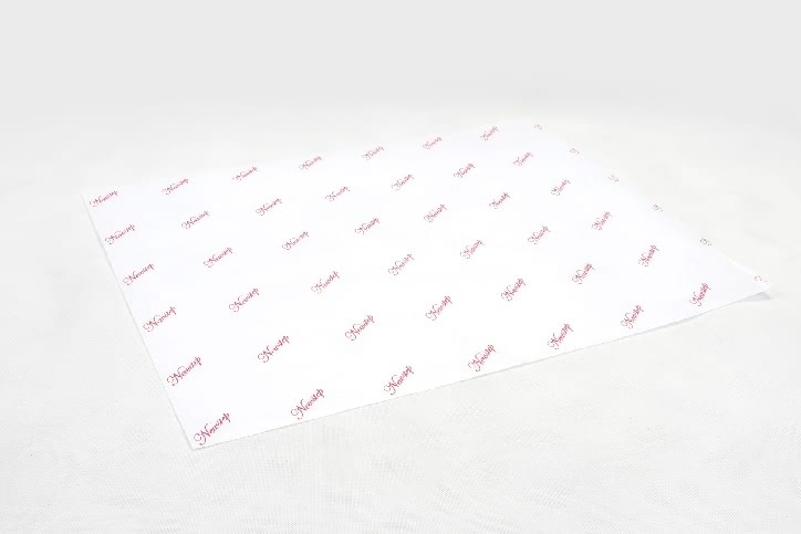 Printed White Cotton Wrapping Paper side