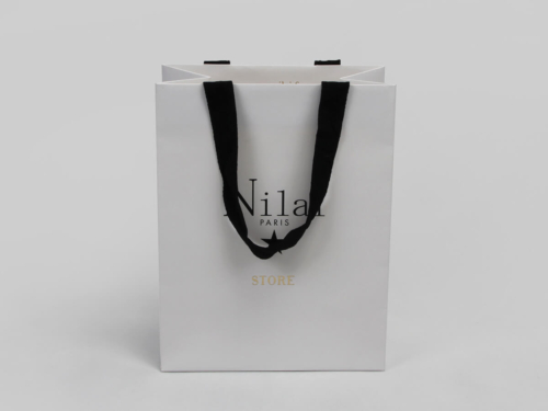 Pure White Jewelry Shopping Paper Bags