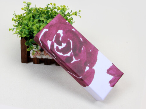 Purple Roses Clamshell Gift Paper Boxes
