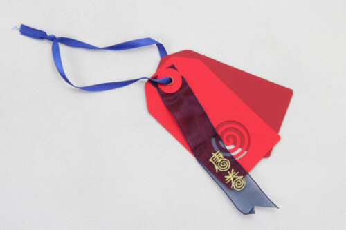 Red Fancy Paper Garment Hangtags
