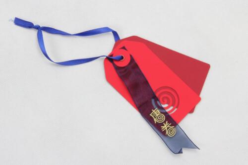 Red Fancy Paper Garment Hangtags