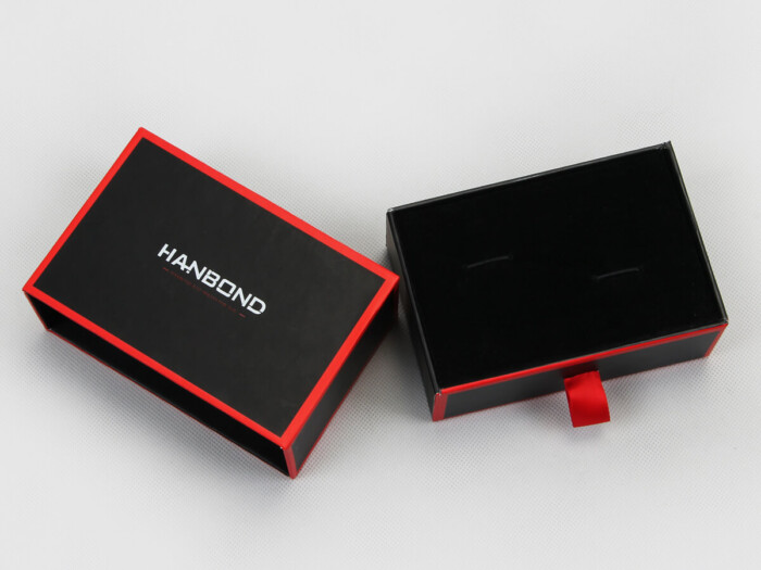 Red Inlaid Dark Cufflinks Packaging Boxes Lining Display