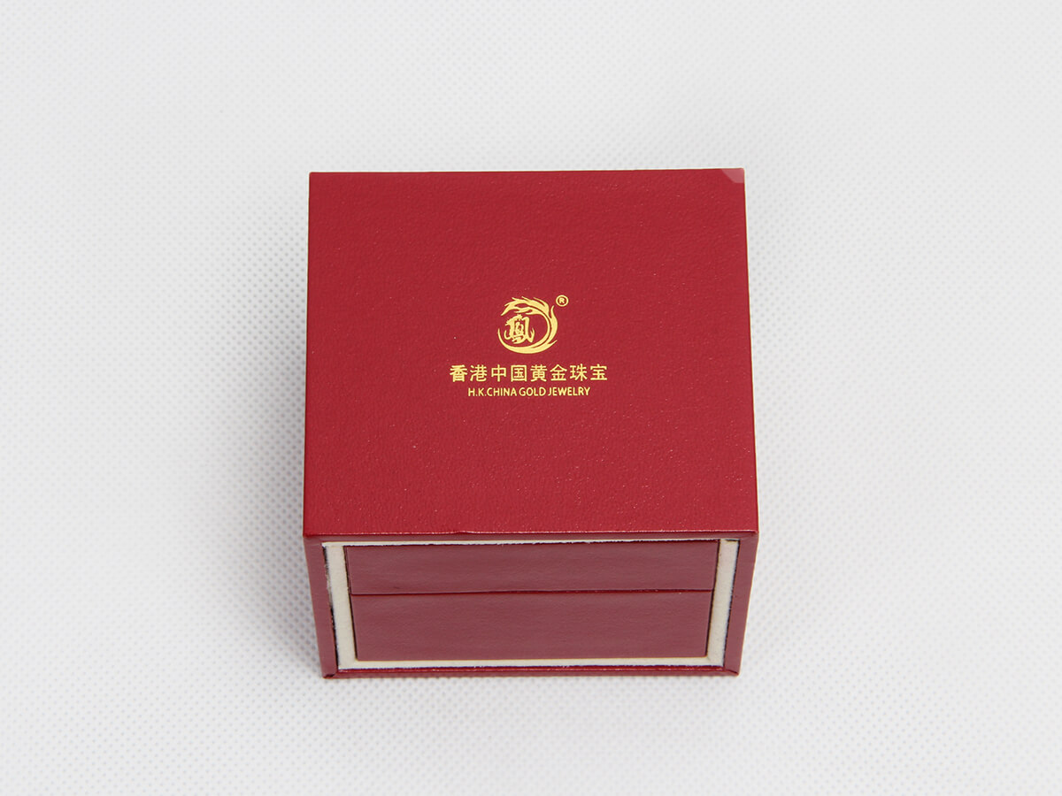 Red Jewelry Boxes With Outer Boxes LOGO Technique