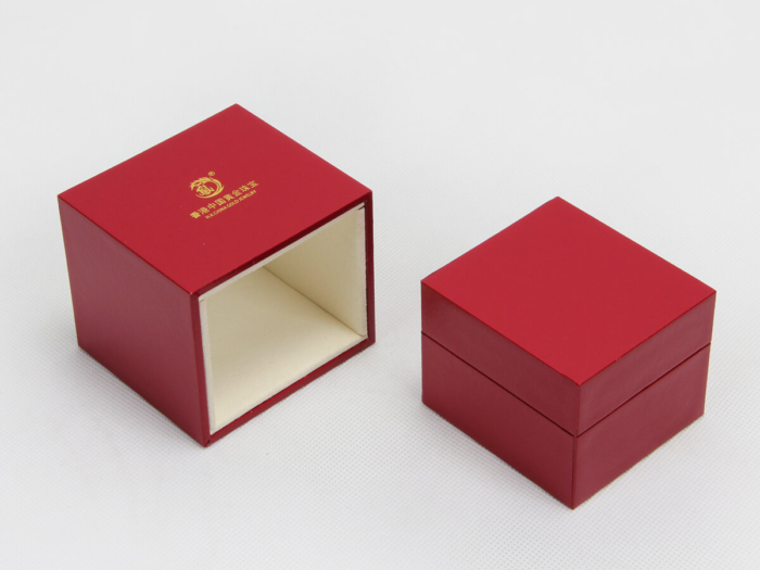 Red Jewelry Boxes With Outer Boxes Open Way