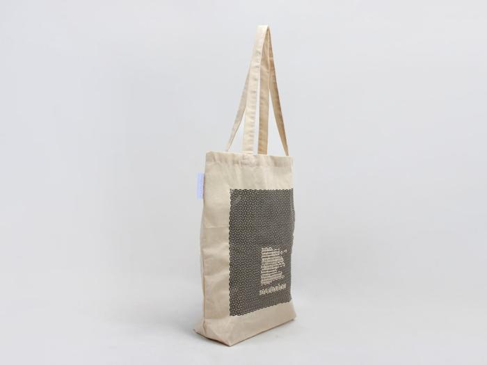 Reusable Geometric Cotton Tote Bags Side Display