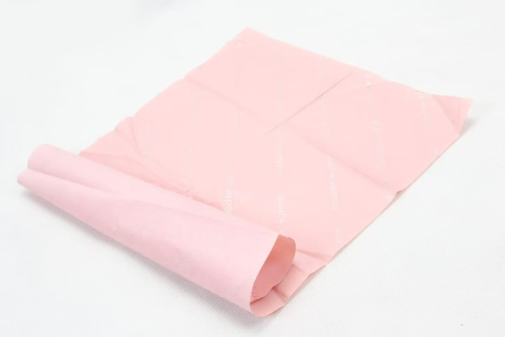 Romantic Pink Gift Wrapping Tissue Paper folding