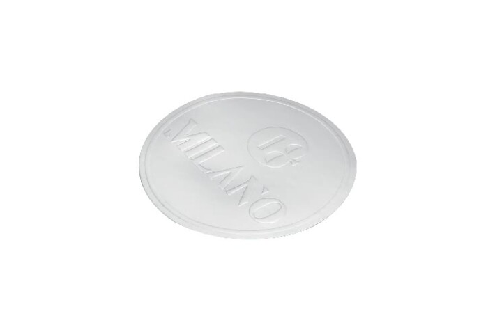 Round Silver Gift Wrapping Seal Stickers detail