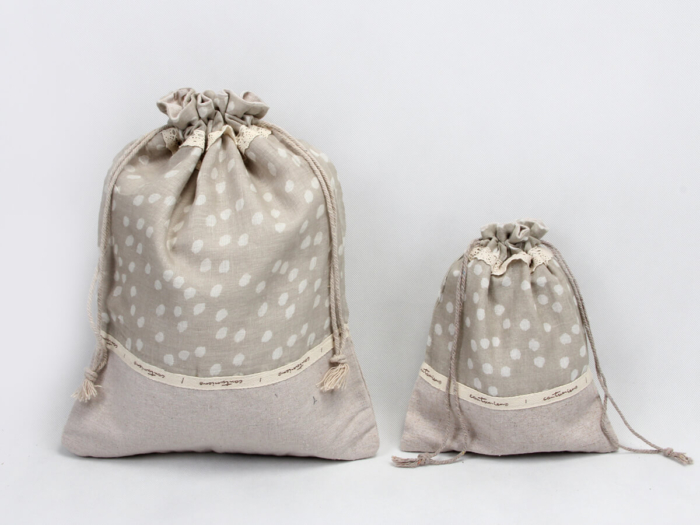 Rural Style Cotton Underwear Bags With Flaps