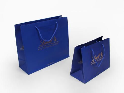 Sea Blue Garment Shopping Paper Bags