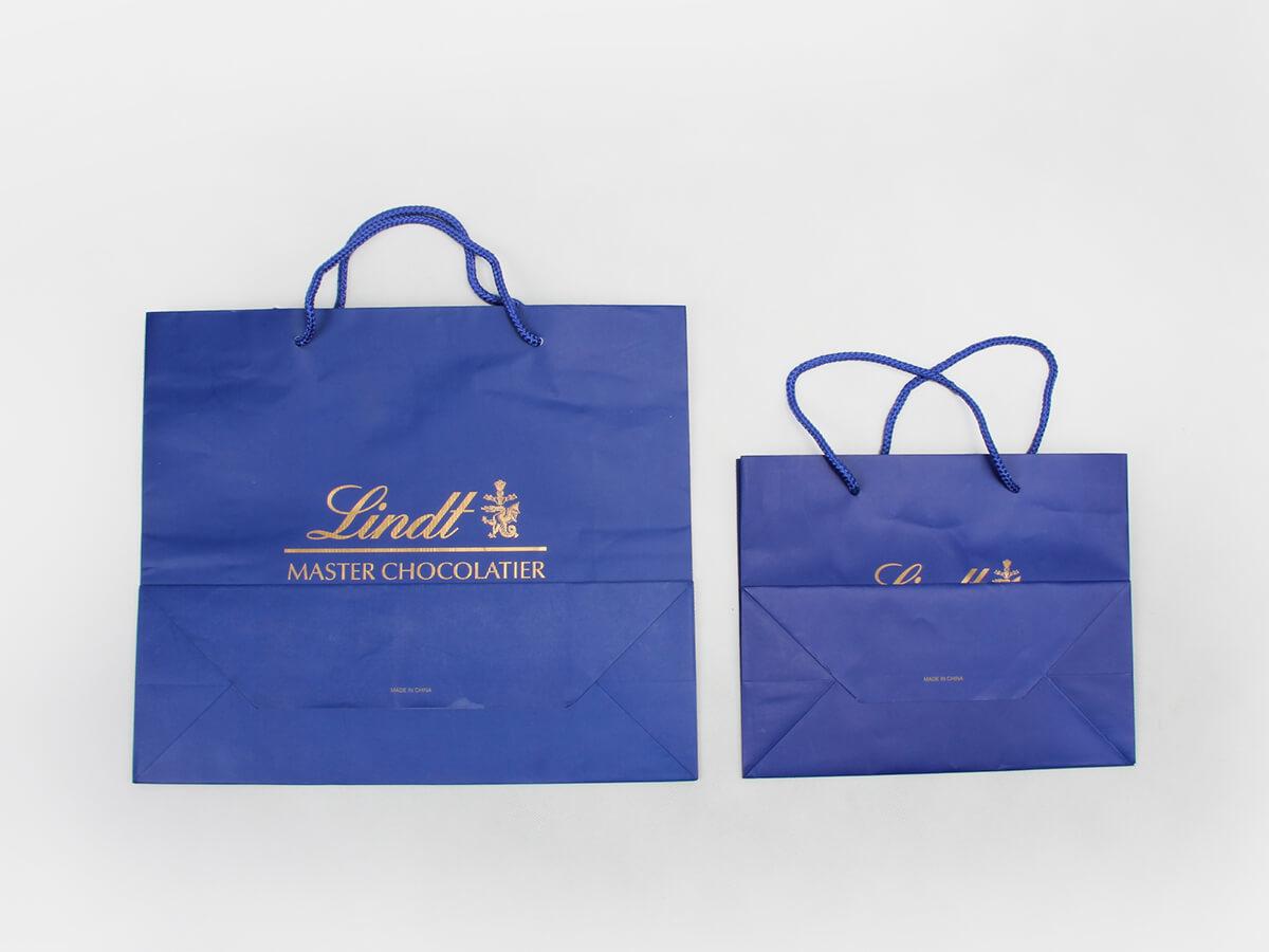 Sea Blue Garment Shopping Paper Bags Folding Way