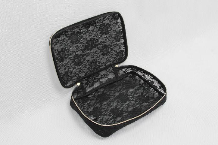 Sexy Lace Cosmetic Bags open