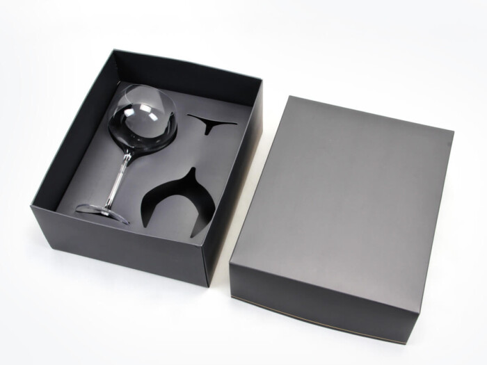 Shockproof Wine Glass Packaging Boxes Lid&Base Display