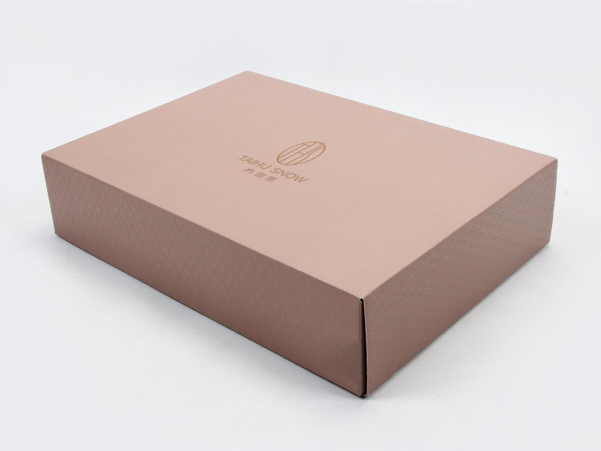 Silk Sheet Set Packaging Boxes Side Display
