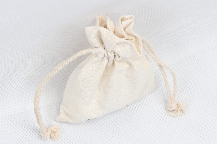 Small Cotton Cosmetic Drawstring Bags top