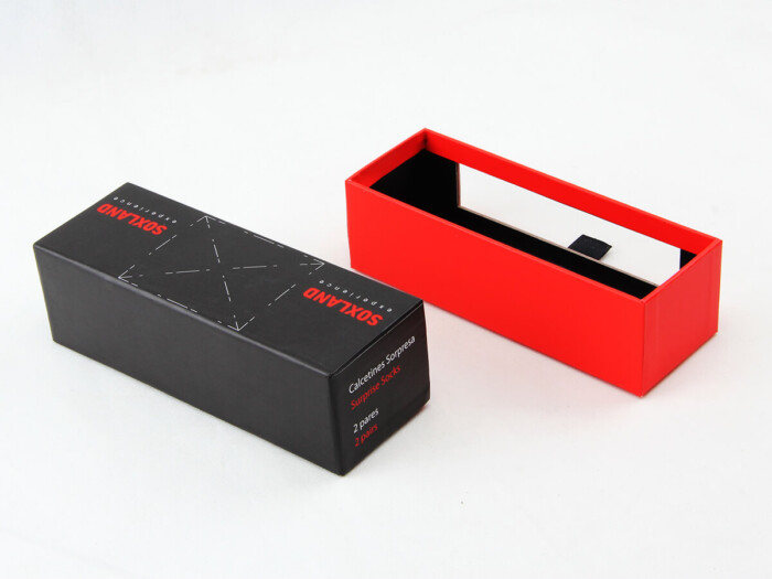 Sock Packaging Boxes With Transparent Window Side Detail