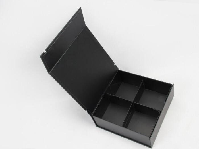 Square Folding Necktie Gift Boxes Open