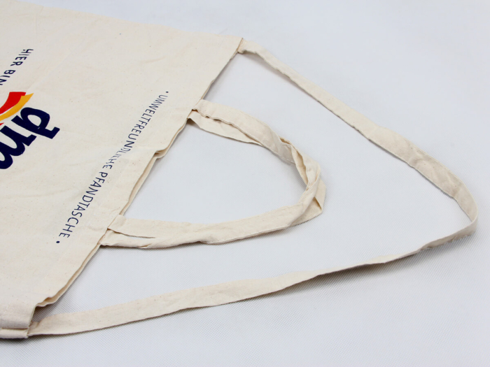 Supermarket Cotton Shopping Bags Handle Detail