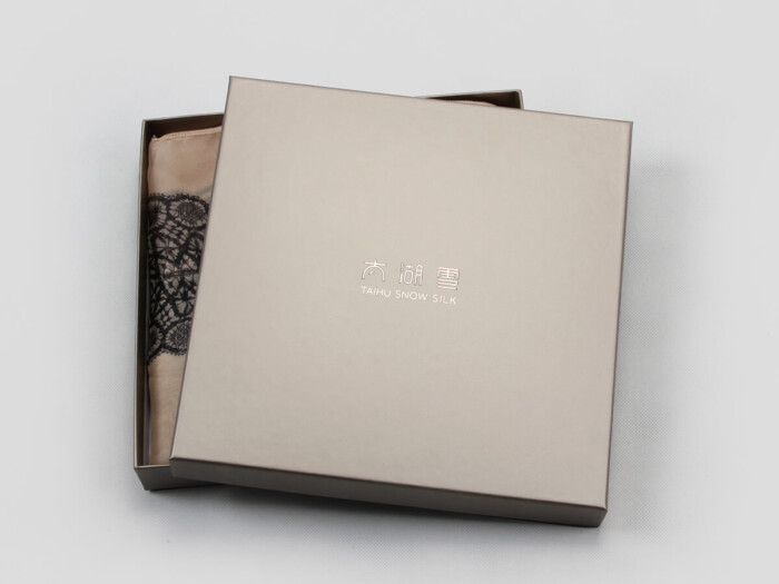 Textured Silk Scarf Gift Paper Boxes Open Way