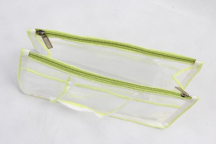 Transparent EVA Handle Bags Toiletry Travel Bags Open