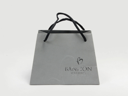 Trapezium Jewelry Gift Shopping Paper Bags