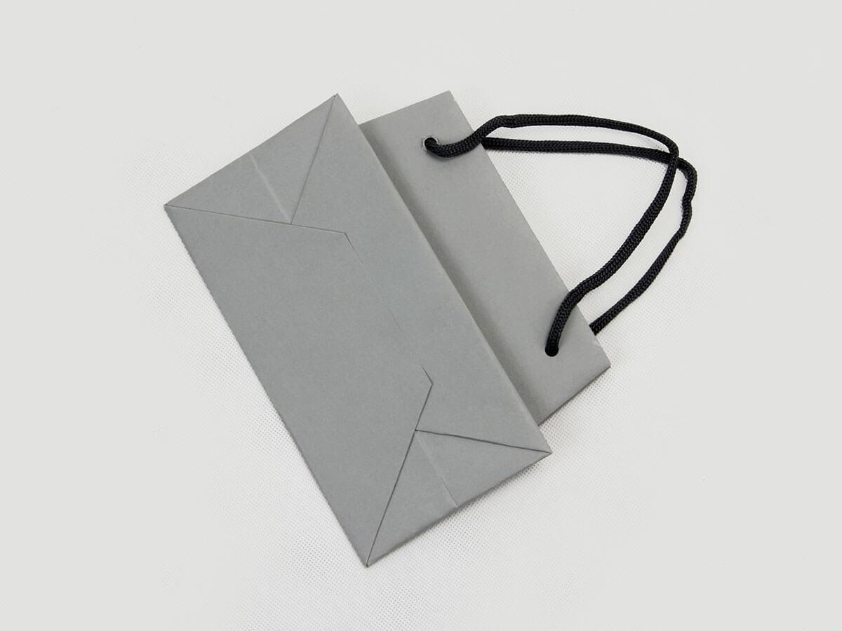 Trapezium Jewelry Gift Shopping Paper Bags Folding Way