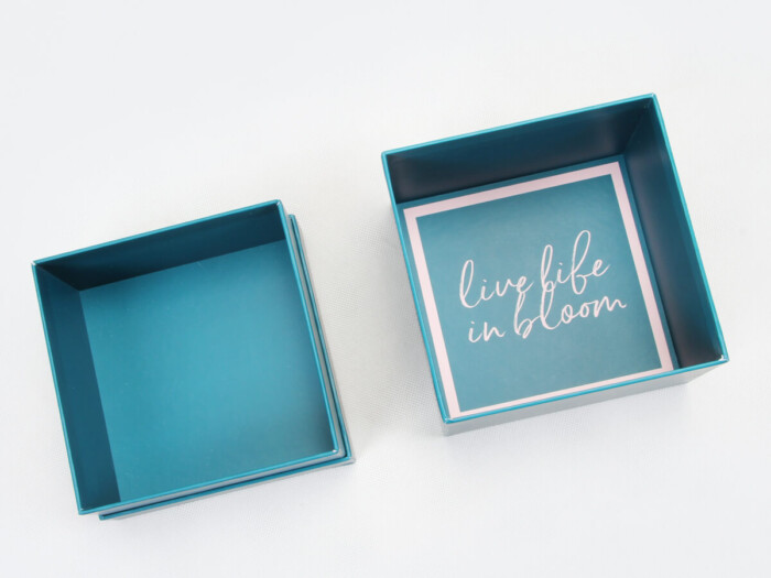 Turquoise Jewelry Bracelet Packaging Boxes Printed