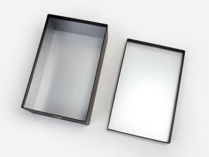 Upscale Black Paper Shoe Boxes Bottom Display