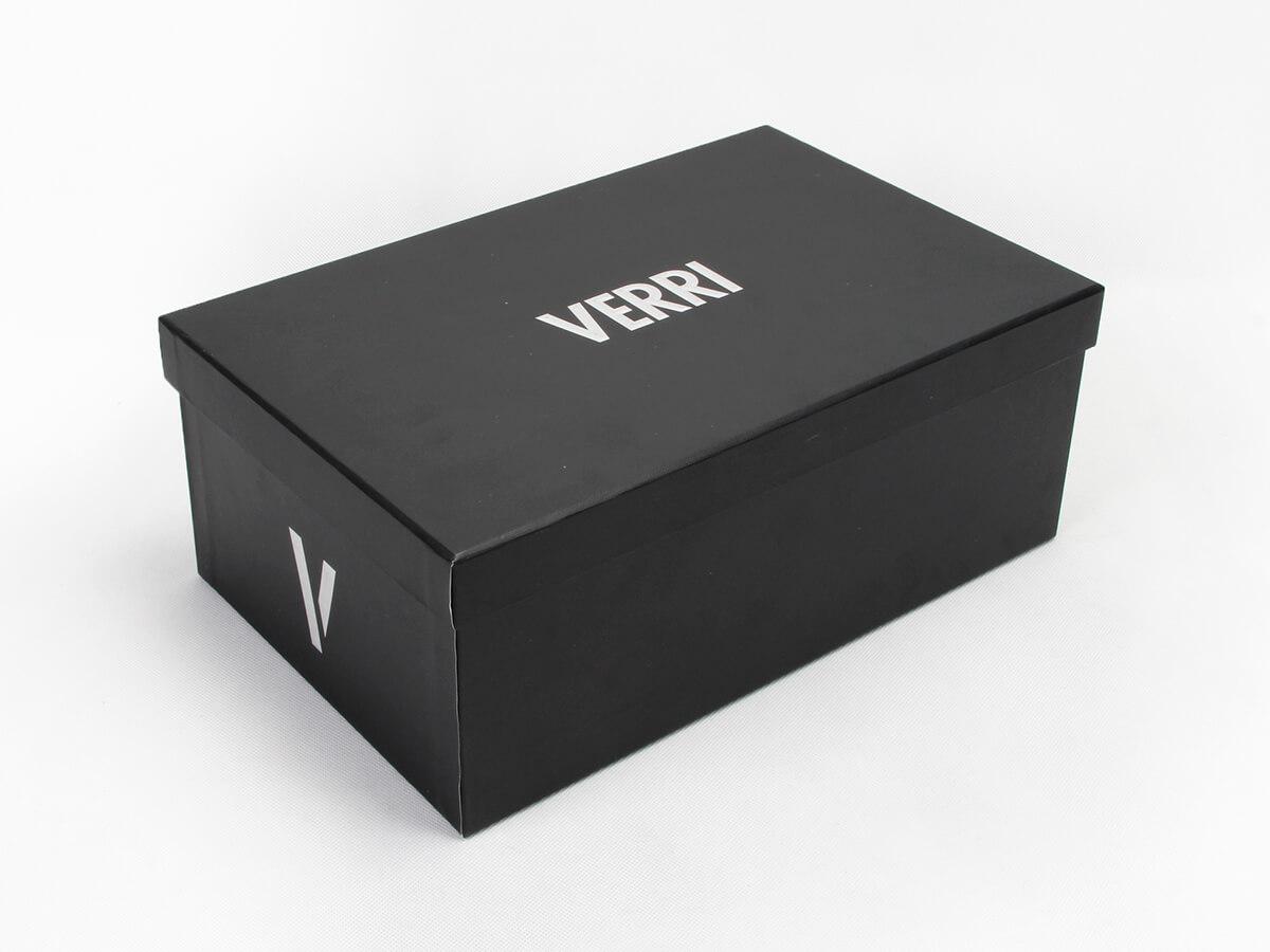 Upscale Black Paper Shoe Boxes Corner Detail